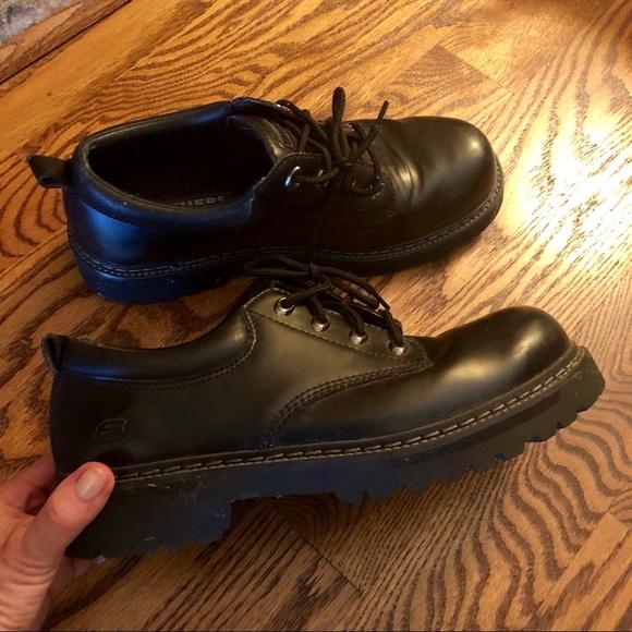 Skechers Shoes   Mens Leather Slip